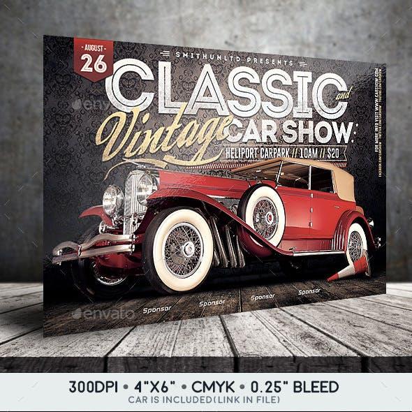 Car Show Flyer - Classic & Vintage - Horizontal