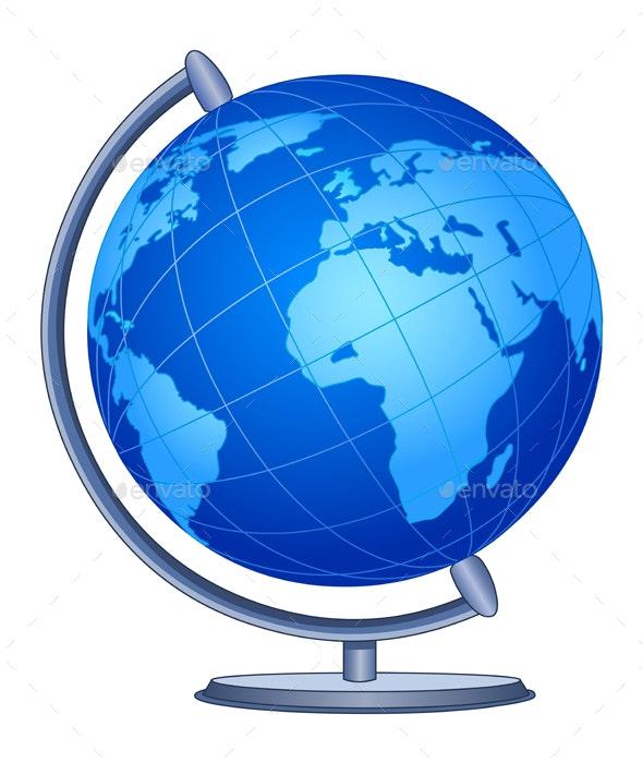 World Globe - Man-made Objects Objects