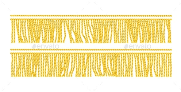 Gold Fringe Seamless - Borders Decorative