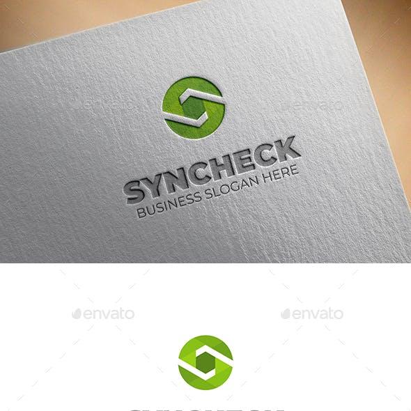 Sync Check S Letter Logo