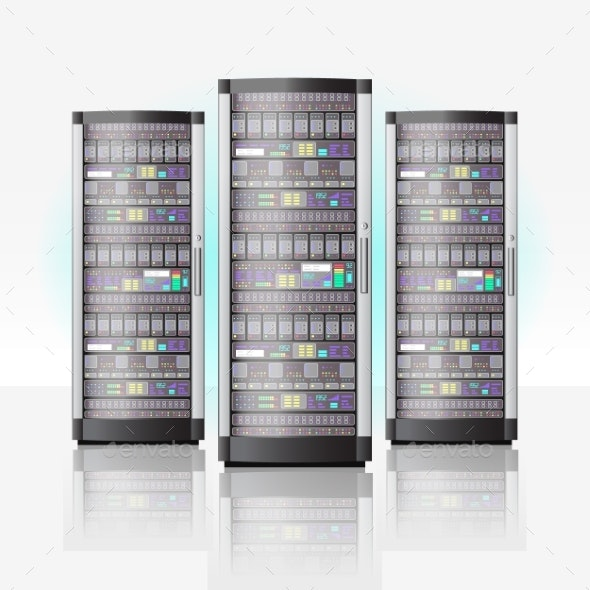 Server Room Hosting Data Center Cloud Database - Computers Technology
