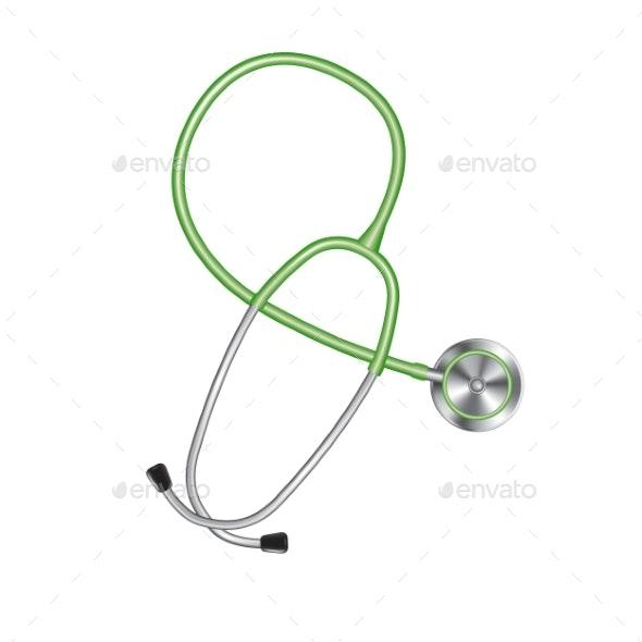 Colored Stethoscope Icon - Health/Medicine Conceptual