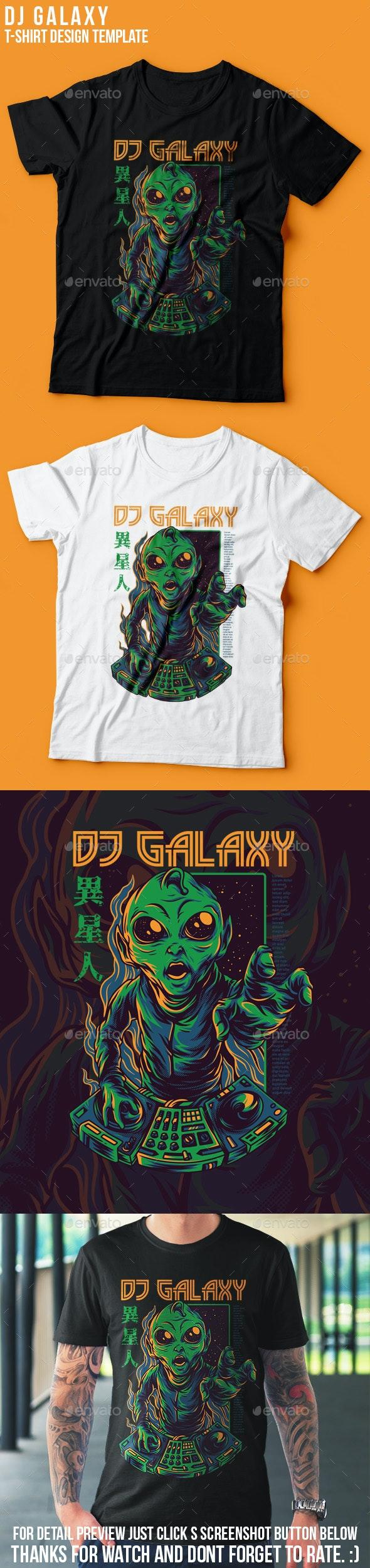 DJ Galaxy T-Shirt Design - Events T-Shirts