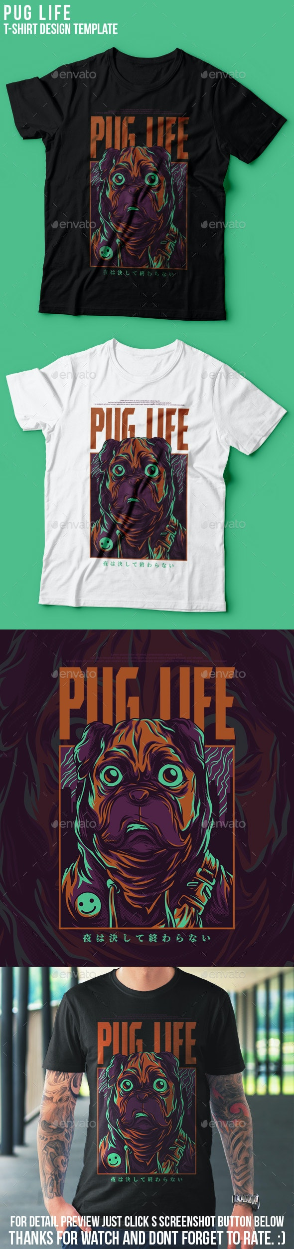 Pug Life T-Shirt Design - Funny Designs