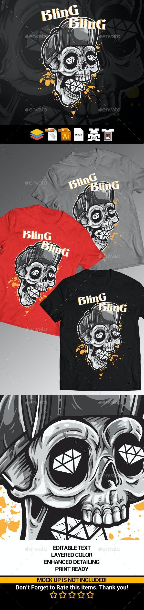 Skull Diamonds - Grunge Designs