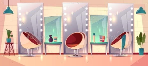 Vector Female Hairdressing Barbershop - Backgrounds Decorative