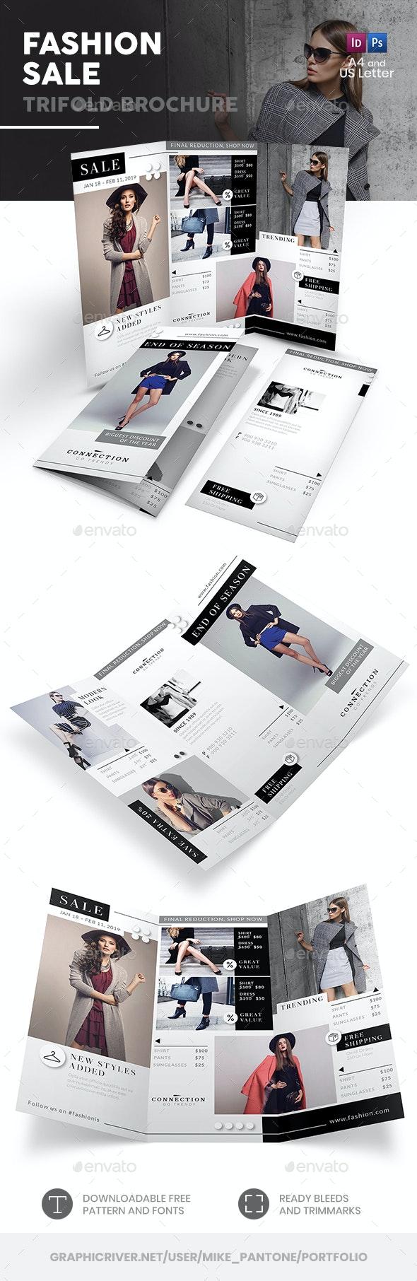 Fashion Shop Sale Trifold Brochure - Informational Brochures