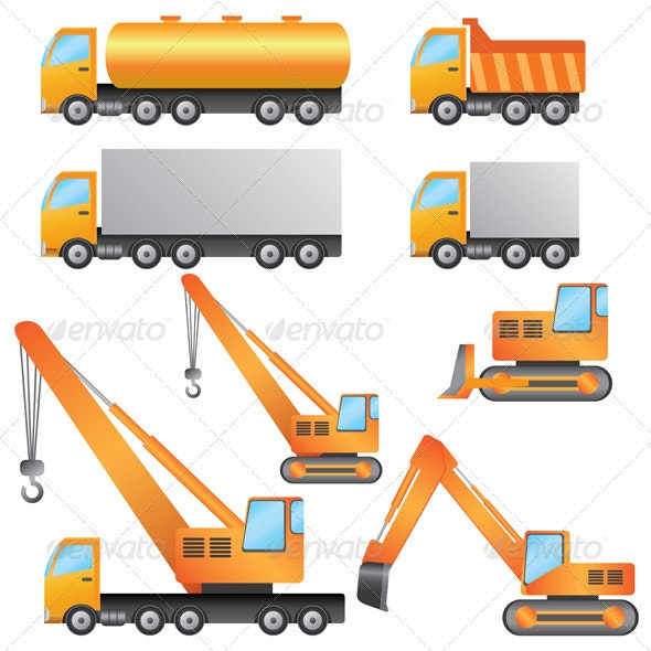 Construction Vehicles. - Man-made Objects Objects