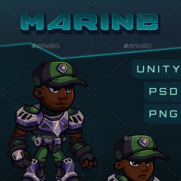 Scifi Marine Character