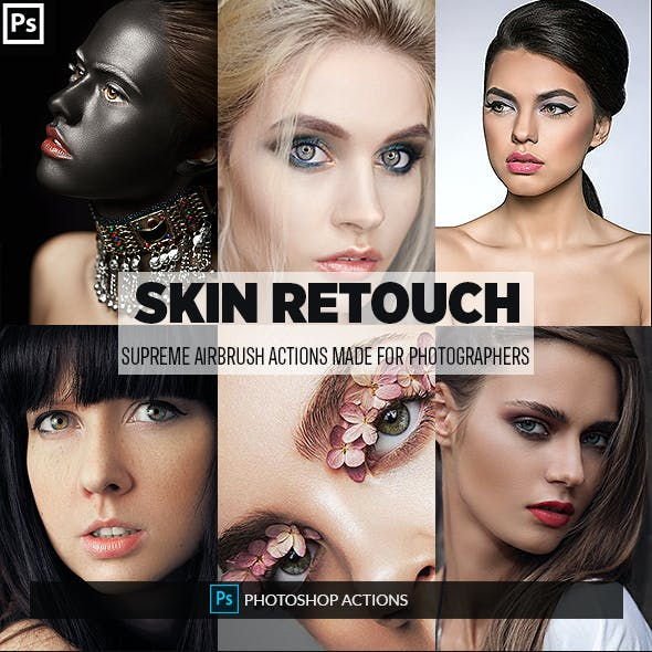 Easy Skin Retouch Photoshop Actions