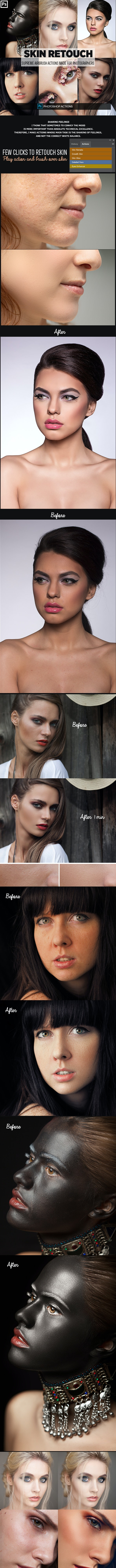 Easy Skin Retouch Photoshop Actions - Actions Photoshop