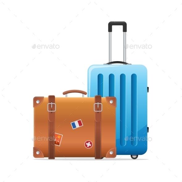 Baggage Travel Suitcase Icon - Travel Conceptual