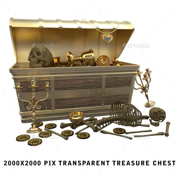 3D Rendered Treasure Chest - Objects 3D Renders