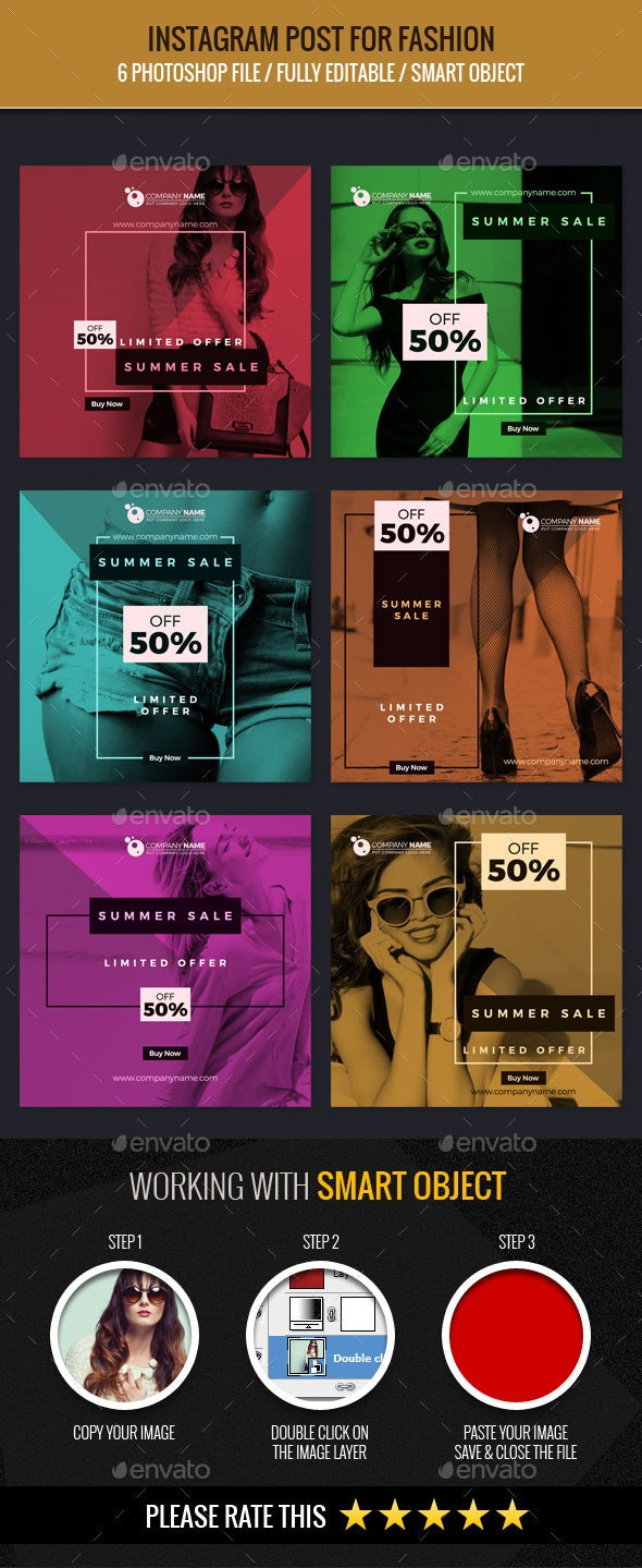 Instagram Post for Fashion - Banners & Ads Web Elements
