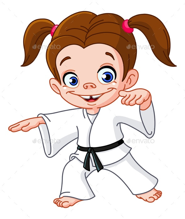 Karate Girl - People Characters