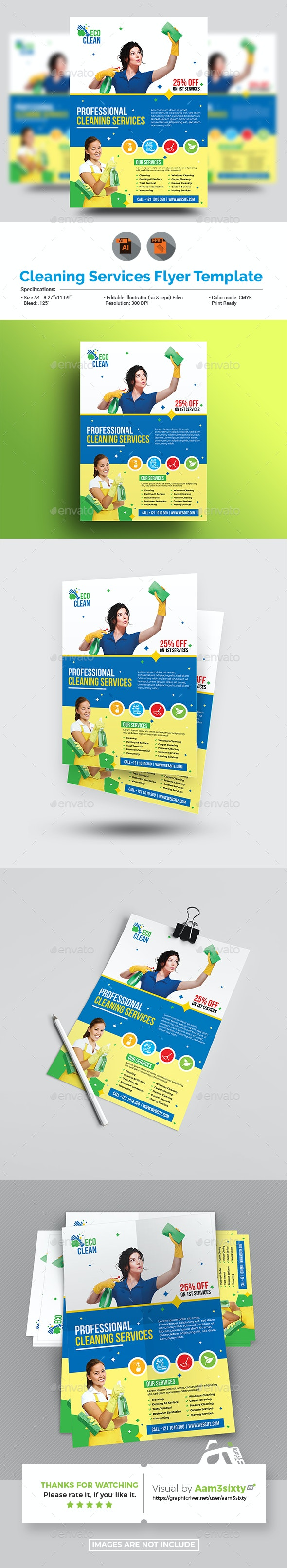 Cleaning Service Flyer Template - Commerce Flyers