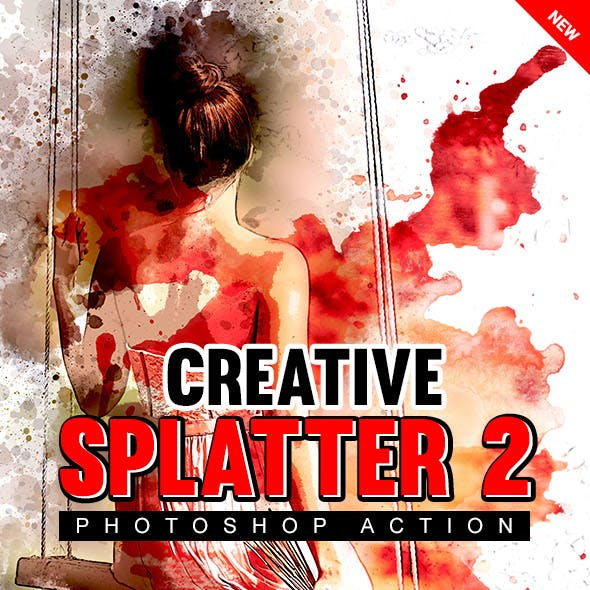 Creative Splatter 2 Photoshop Action