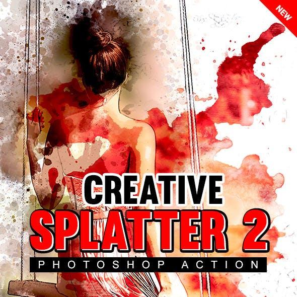 Creative Splatter 2 Photoshop Action