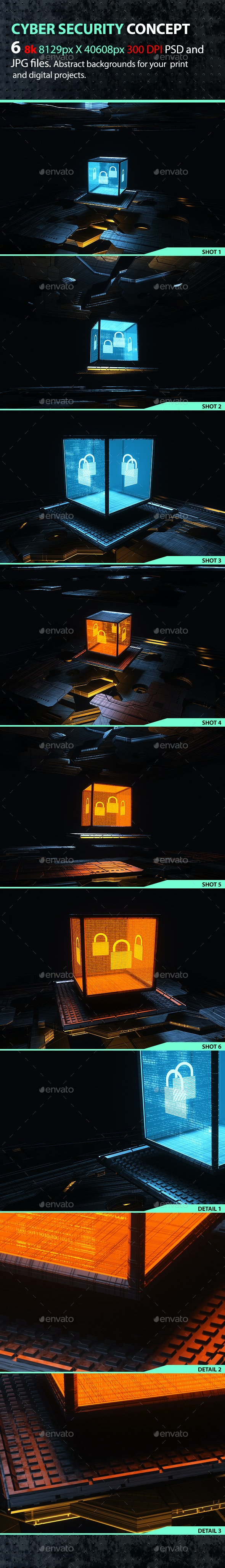 Cyber Security Concept - Tech / Futuristic Backgrounds