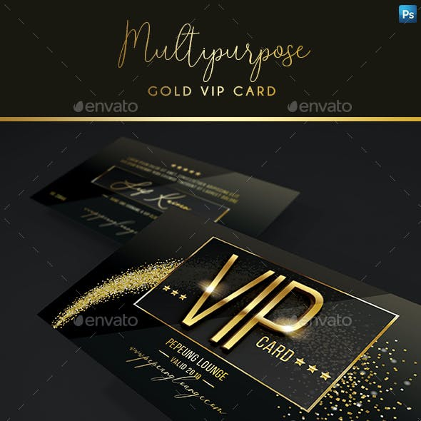 Multipurpose Gold Vip Card