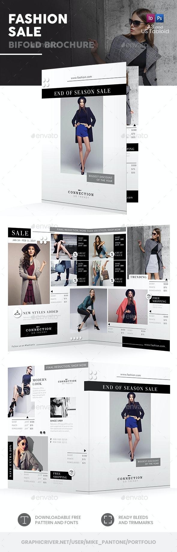 Fashion Shop Sale Bifold / Halffold Brochure - Informational Brochures