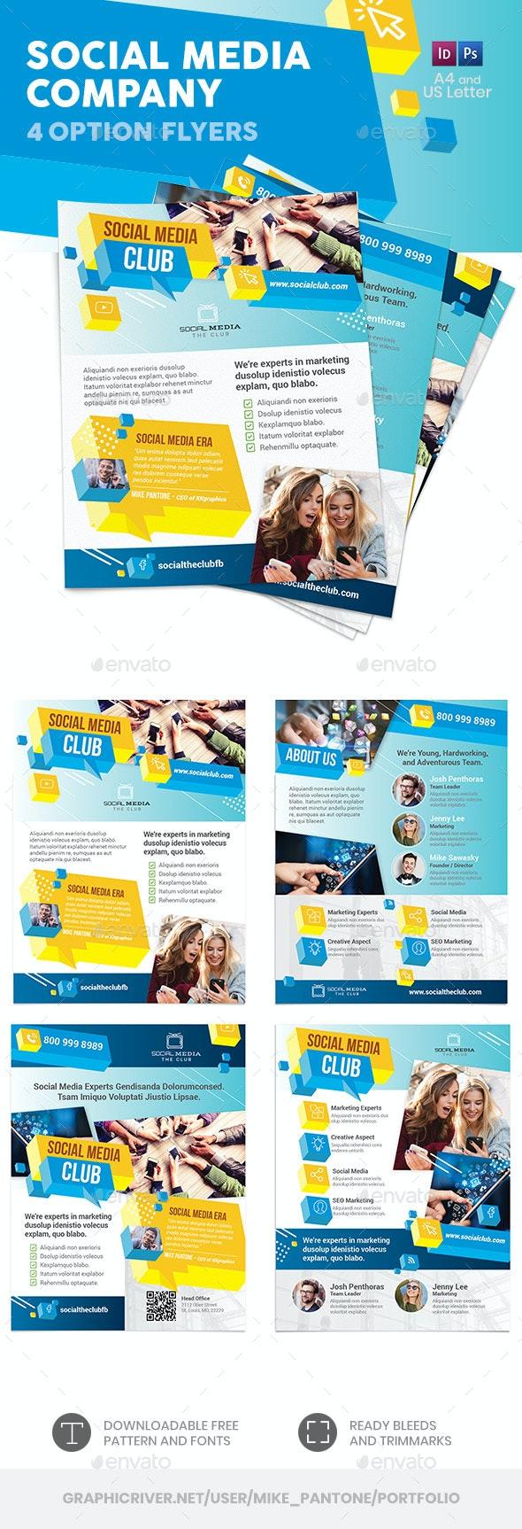 Social Media Company Flyers – 4 Options - Corporate Flyers