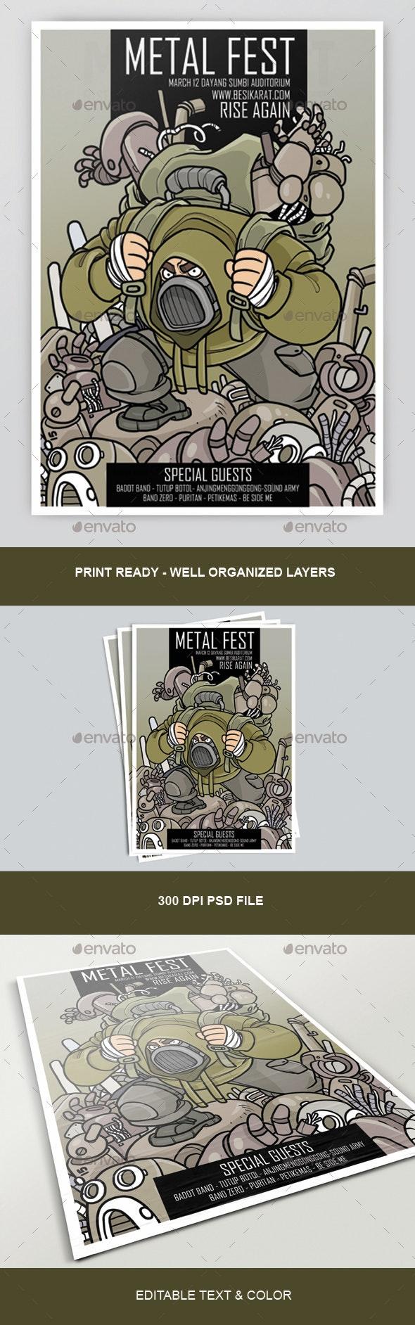 Metal Fest Poster - Miscellaneous Events
