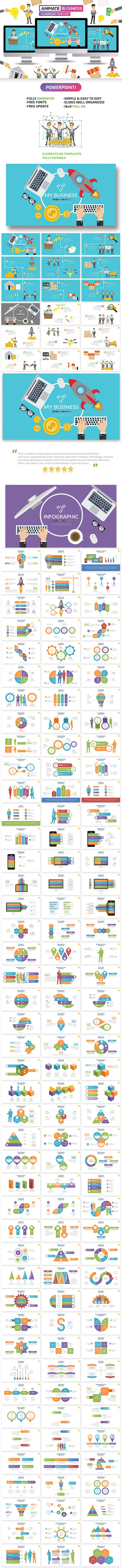 Business Animate Powerpoint Presentation - PowerPoint Templates Presentation Templates