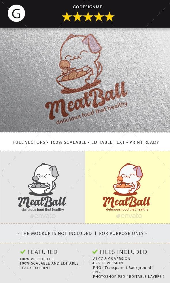 Meatball Logo Design - Vector Abstract
