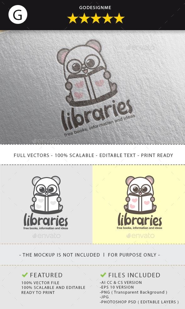 Libraries Logo Design - Vector Abstract