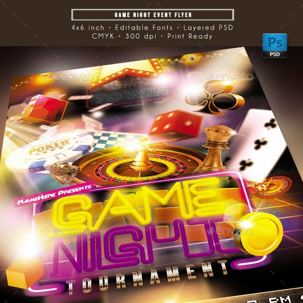 Game Night Event Flyer