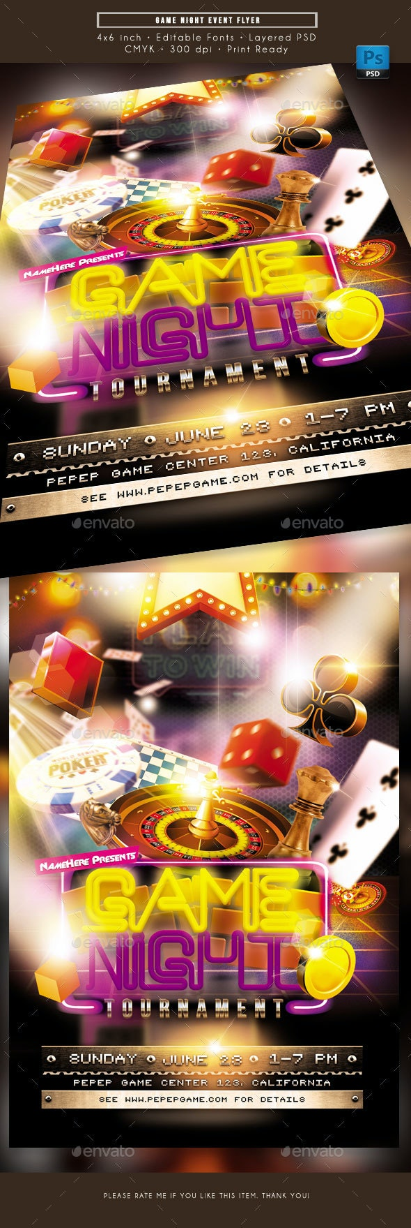 Game Night Event Flyer - Miscellaneous Events
