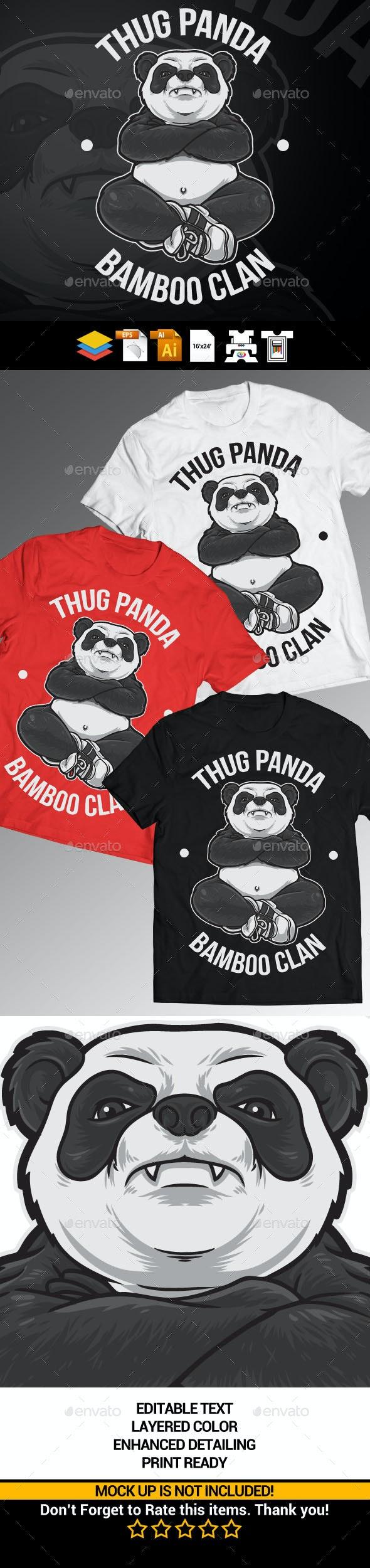 Thug Panda - Designs T-Shirts