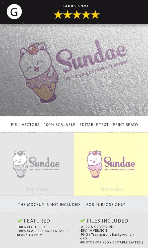 Sundae Logo Design - Vector Abstract