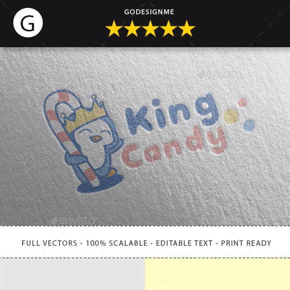 King Candy Logo Design