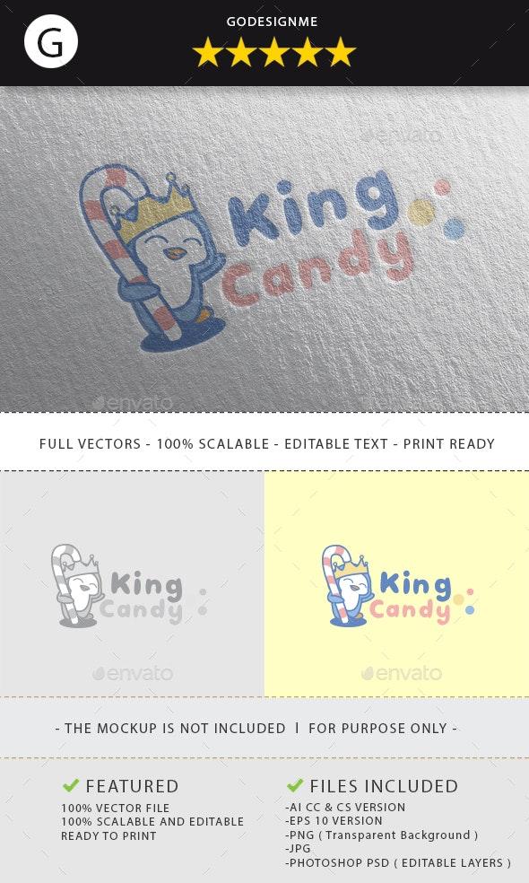 King Candy Logo Design - Vector Abstract