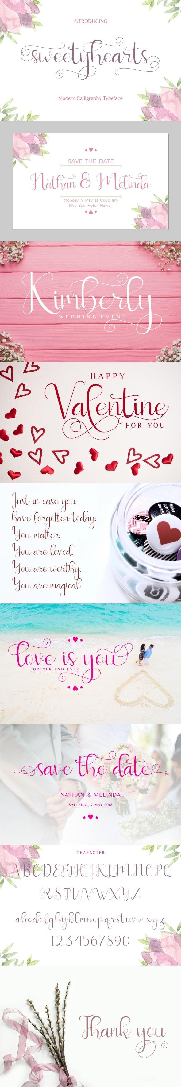 Sweetyhearts - Calligraphy Script