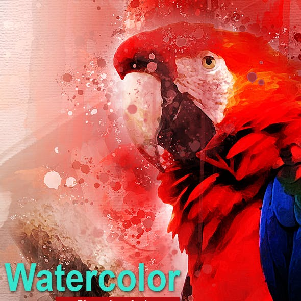 Amazing Watercolor Photoshop Action