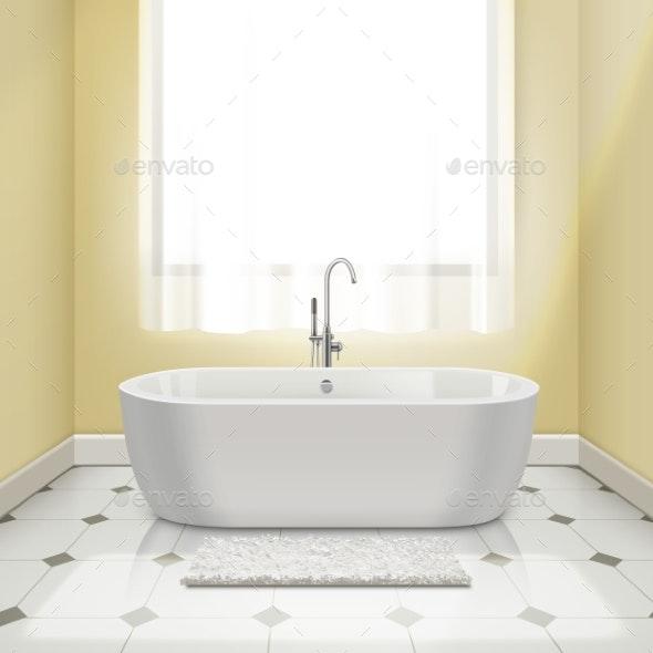 Bathtub in Interior - Objects Vectors