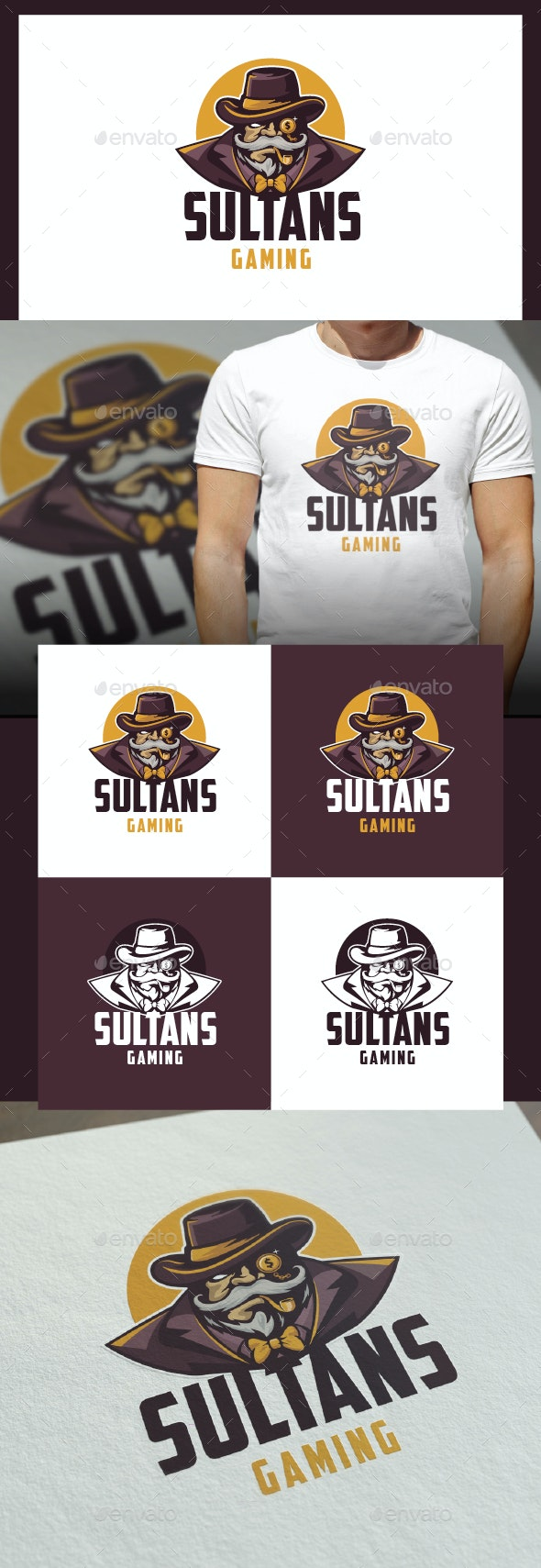 Sultans Gaming Logo Template - Humans Logo Templates