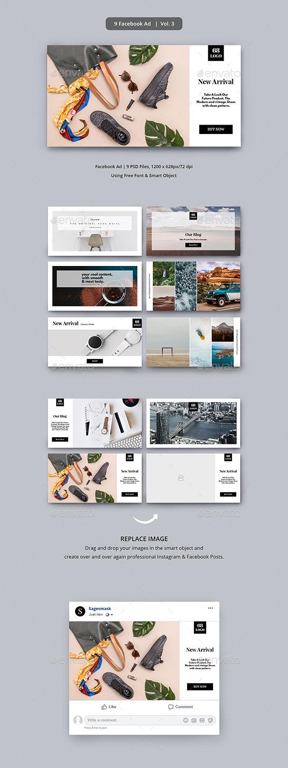 Facebook Ad Vol. 3 - Social Media Web Elements