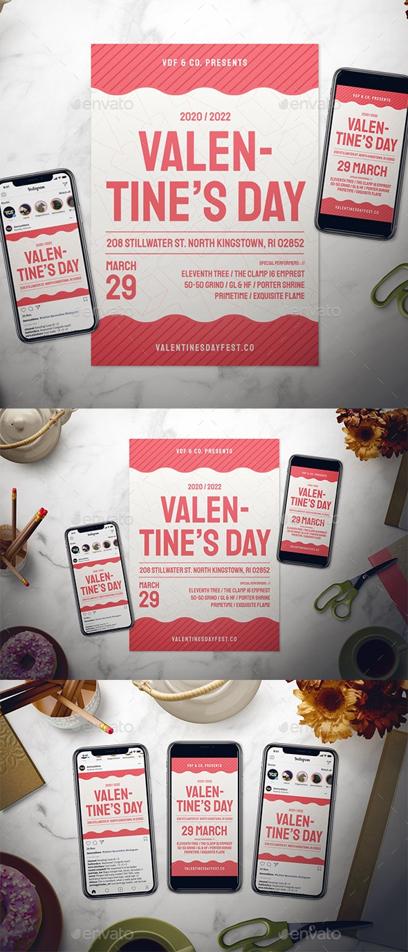 Valentine's Day Flyer Set - Events Flyers