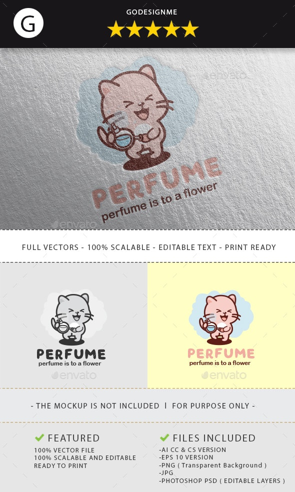 Perfume Logo Design - Vector Abstract