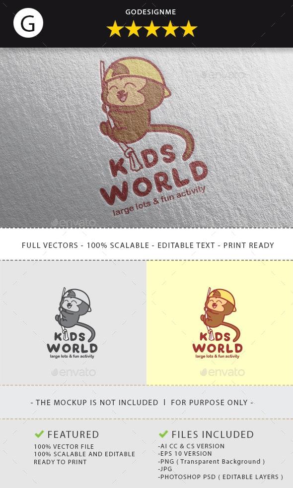 Kids World Logo Design - Vector Abstract