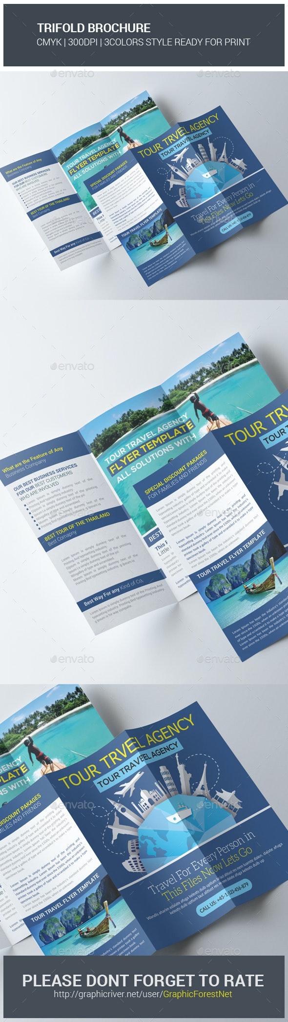Thailand Tour Travel Trifold Brochure - Brochures Print Templates