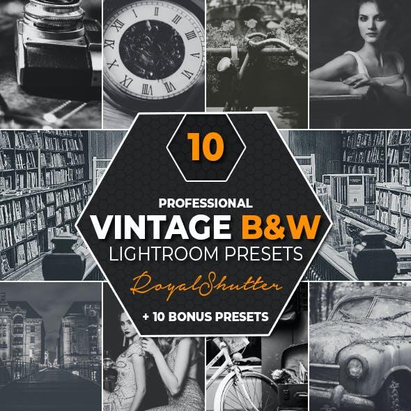 10 Vintage Black & White Lightroom Presets