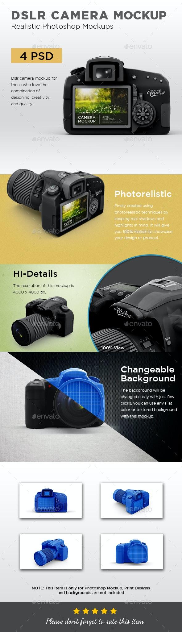 DSLR Camera Mockup - Miscellaneous Product Mock-Ups