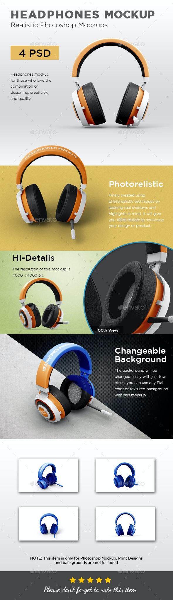 Headphones Mockup - Miscellaneous Product Mock-Ups