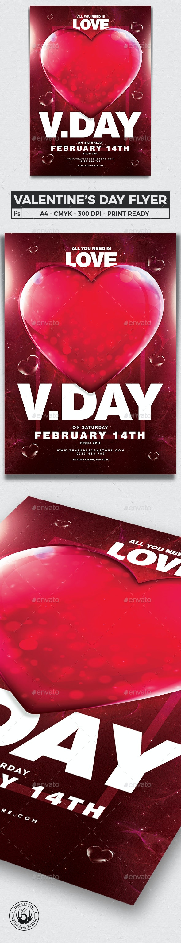 Valentines Day Flyer Template V21 - Clubs & Parties Events