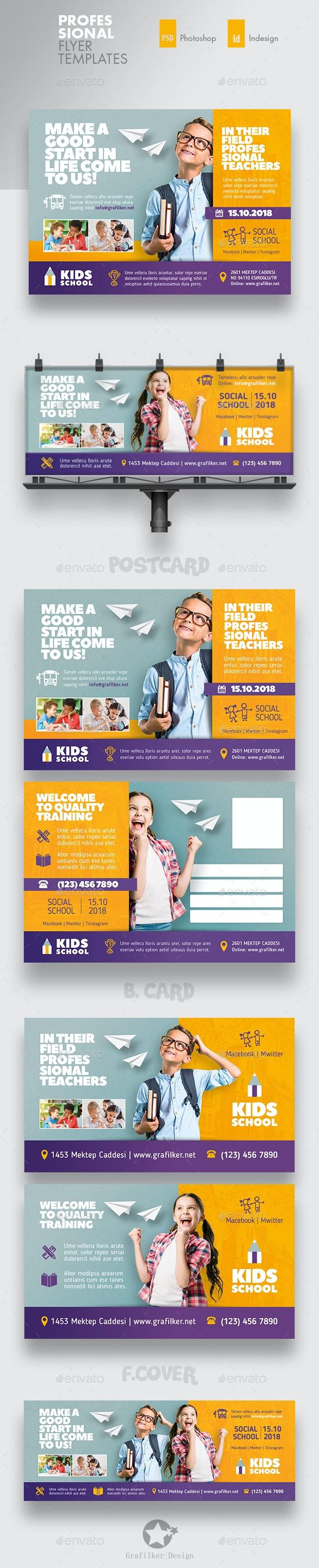 Kids School Bundle Templates - Corporate Flyers